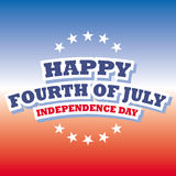 Happy fourth of july - independence day banner. Happy fourth of july - independence day Stock Photography