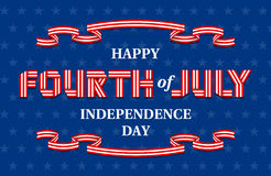 Happy Fourth of July Independence Day banner for USA national holiday Royalty Free Stock Images