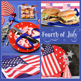 Happy Fourth of July, Independence Day collage Royalty Free Stock Photography