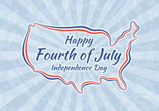 Happy Fourth of July and Independence Day Royalty Free Stock Photography