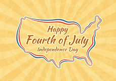 Happy Fourth of July and Independence Day Stock Photo