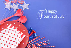 Happy Fourth of July Party Background. Royalty Free Stock Photos
