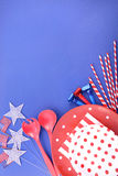 Happy Fourth of July Party Background. Stock Photography