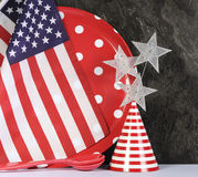 Happy Fourth of July Party Preparation. Stock Photos