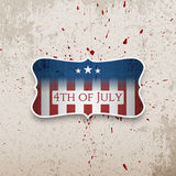 Happy fourth of July patriotic vector Banner Stock Images