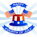 Happy Fourth Of July Poster royalty free illustration