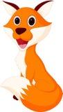 Happy fox cartoon. Illustration of Happy fox cartoon isolated on white Royalty Free Stock Photography