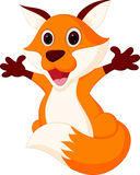 Happy fox cartoon presenting Royalty Free Stock Photos