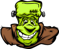 Happy Frankenstein Halloween Monster Head Cartoon Royalty Free Stock Photos