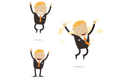 Happy and free businessman Royalty Free Stock Photos