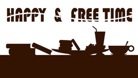 Happy and free time royalty free illustration