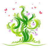 Happy fresh green background Stock Photo