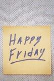 Happy Friday Royalty Free Stock Photo