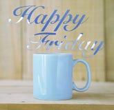 Happy Friday. Card concept idea stock image
