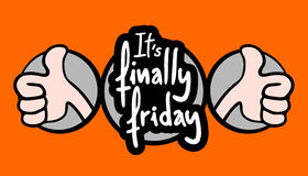 Happy friday. Creative design of happy friday Stock Images