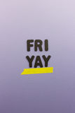 Happy friday Stock Images