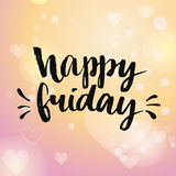 Happy friday. Positive quote handwritten  Royalty Free Stock Image
