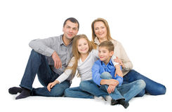 Happy friendly family Stock Images