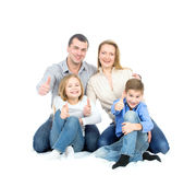 Happy friendly family Royalty Free Stock Images