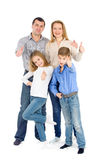 Happy friendly family Royalty Free Stock Photos