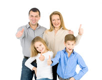 Happy friendly family Stock Image