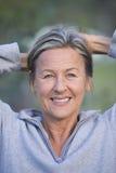 Happy friendly senior woman outdoor Royalty Free Stock Photos