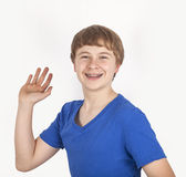 Happy friendly teenage boy Royalty Free Stock Images
