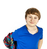 Happy friendly teenage boy Stock Image