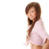 Happy and friendly young lady Royalty Free Stock Photography