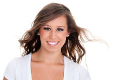 Happy friendly young woman Royalty Free Stock Images