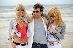 Happy friends. Having fun on the beach Royalty Free Stock Photo