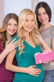 Happy friends on Baby Shower. Royalty Free Stock Image