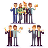Happy friends, business people at party vector friendly concept Stock Photography