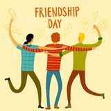 Happy friends enjoying Friendship Day Royalty Free Stock Photo