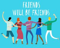 Happy friends enjoying Friendship Day Royalty Free Stock Image