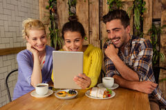 Happy friends enjoying together Stock Images