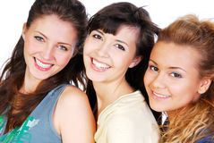 Happy friends faces Royalty Free Stock Images