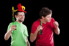 Happy friends after football match Royalty Free Stock Image