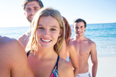 Happy friends having fun together Stock Photography