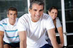 Happy Friends In Health Club Royalty Free Stock Photography