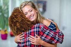 Happy friends hugging Royalty Free Stock Photography