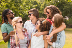 Happy friends in the park Royalty Free Stock Photography