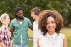 Happy friends in the park Royalty Free Stock Photo