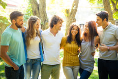 Happy friends in the park Royalty Free Stock Photos