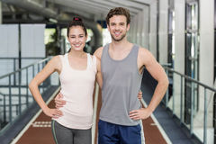 Happy friends running together Stock Photo