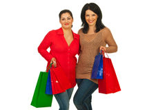 Happy friends at shopping Stock Photo