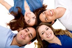 Happy friends smiling Stock Photography