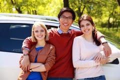 Happy friends standing Stock Image