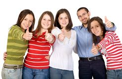 Happy friends - thumbs up Royalty Free Stock Photo