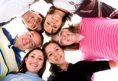 Happy friends together Royalty Free Stock Images